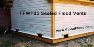 Flood Flaps FFWF05 Sealed Flood Vents in siding