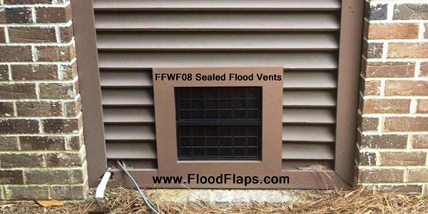 Flood Flaps FFWF08 Sealed Flood Vents with brick