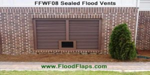 Flood Flaps FFWF08 Sealed Flood Vents in brick