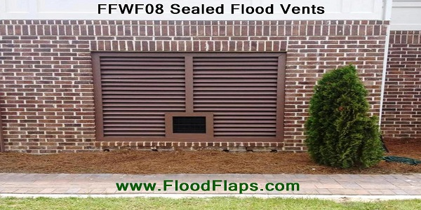 Flood Flaps FFWF08 Sealed Flood Vents in brick