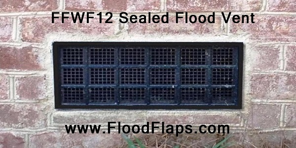 FFWF12 Sealed Flood Vents in Bricks