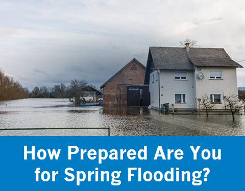 Spring flooding risks