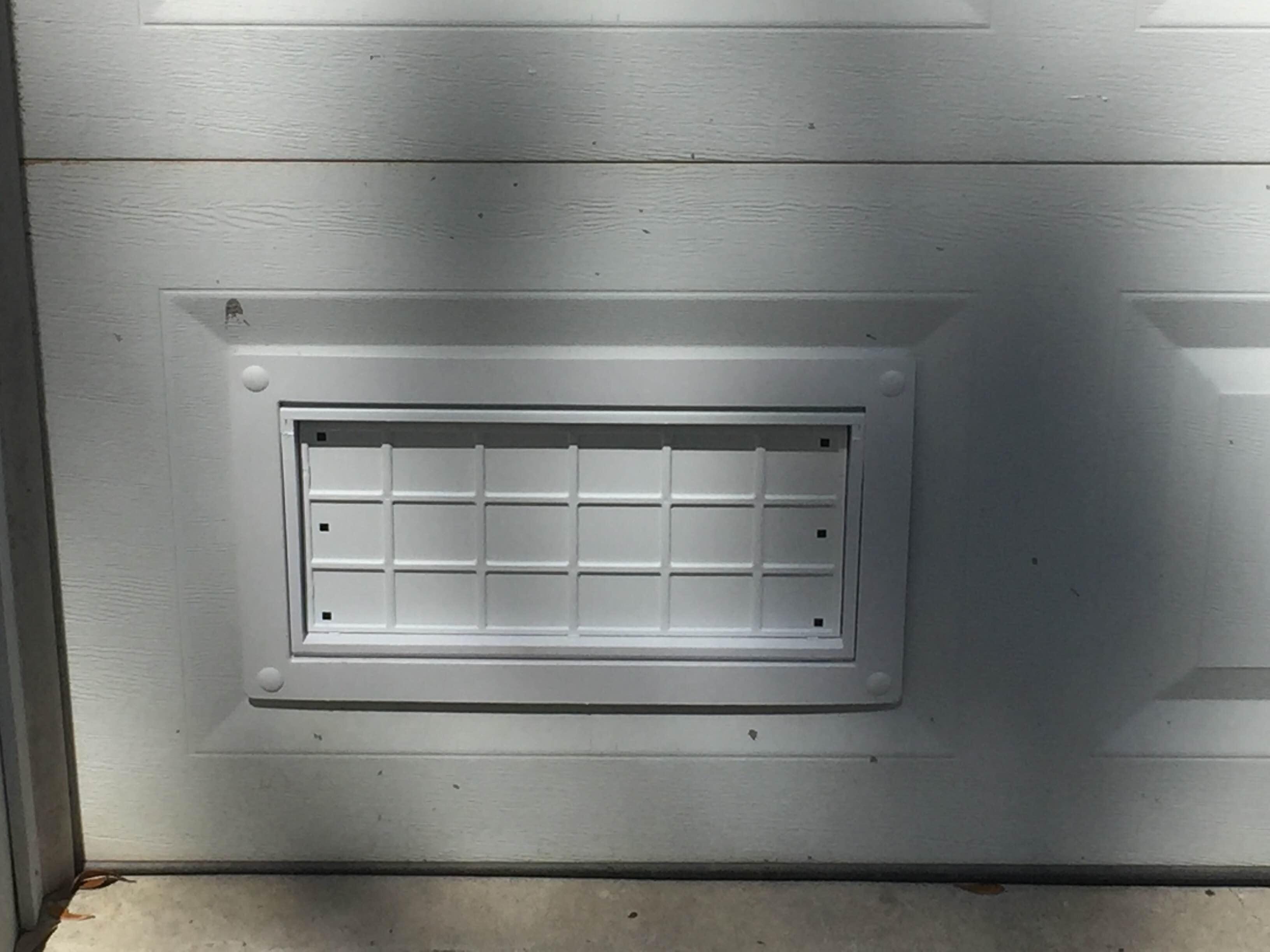New Garage Door flood vent - White
